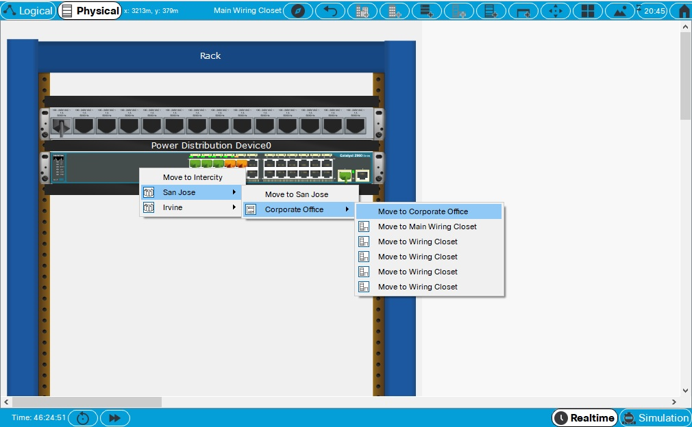 Moving Devices in Packet Tracer